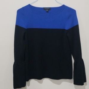 ❤ANN TAYLOR WOOL BLEND FLARE ARM SWEATER/TOP, S